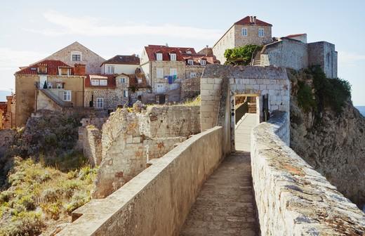 Dubrovnik city walls, Croatia : Stock Photo