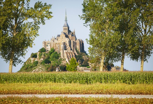 Le Mont Saint-Michel, Normandy, France : Stock Photo
