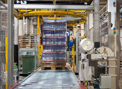 A bottling plant in Estonia : Stock Photo