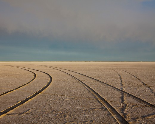 Bonneville Salt Flats landscape : Stock Photo