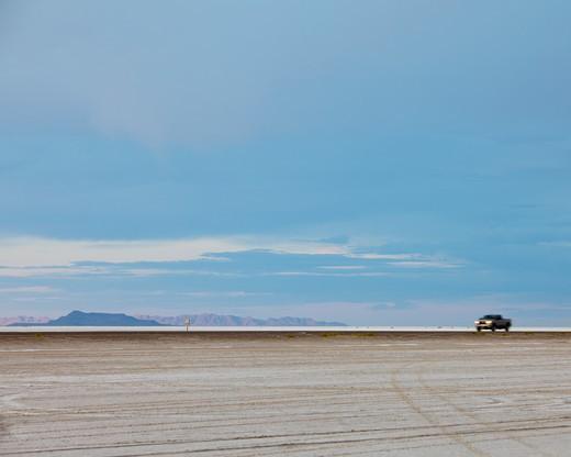 Bonneville Salt Flats, Utah, USA : Stock Photo
