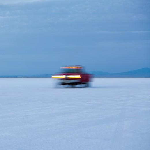 Bonneville Salt Flats Speed Week auto racing event : Stock Photo