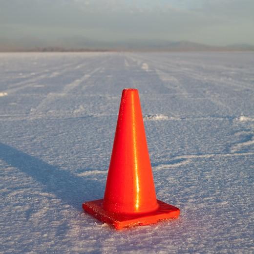 Bonneville Salt Flats, UT, USA. : Stock Photo