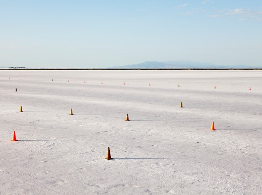 Bonneville Salt Flats, UT, USA. Speed Week event : Stock Photo