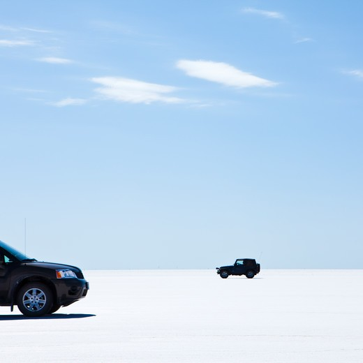Bonnevile Salt Flats, Utah, USA : Stock Photo