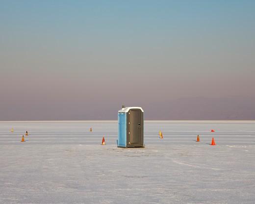 Bonneville Salt Flats during Speed Week : Stock Photo