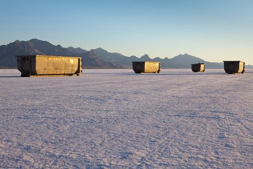 Bonneville Salt Flats in Speed Week : Stock Photo