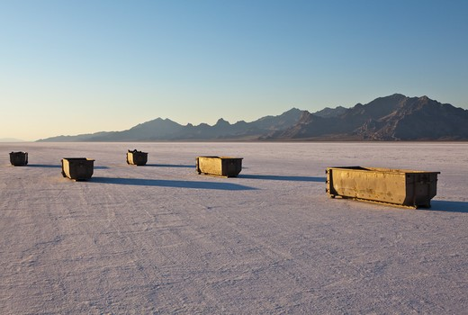 Bonneville Salt Flats in Speed Week : Stock Photo