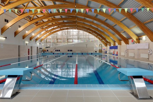Swimming Pool in Moscow, Russia : Stock Photo