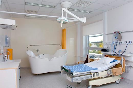 Maternity Unit patient room : Stock Photo