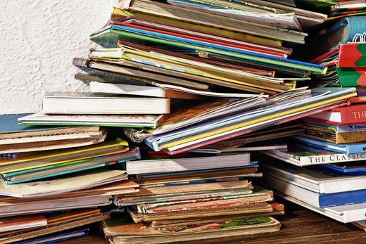 Palmetto,FL, USA/Childs books stacked on a shelve. : Stock Photo