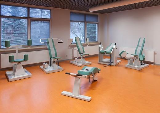 University Hospital Sports Medicine and Rehabilitation Clinic : Stock Photo