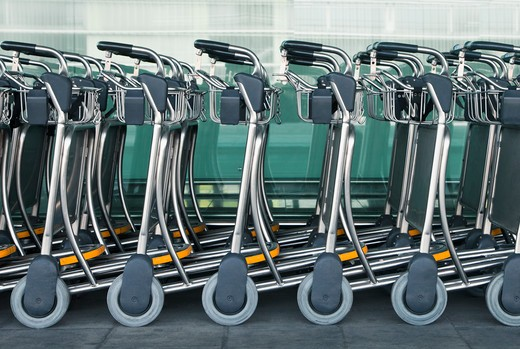 Spain , Luggage Carts : Stock Photo