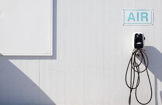 Gas Station Air Pump : Stock Photo