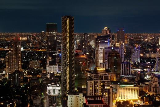 Bangkok, Thailand at night : Stock Photo