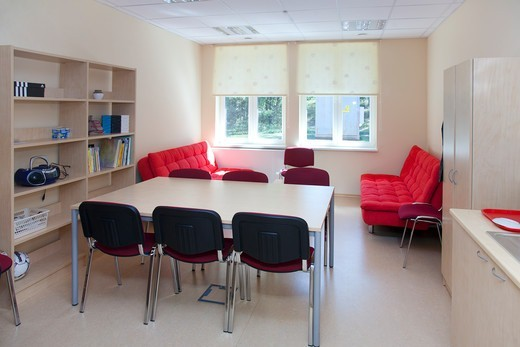 Metsapoole basic school in Estonia : Stock Photo