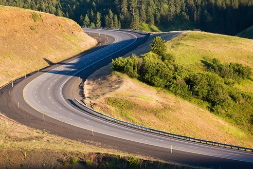 Pendleton, Oregon. Interstate I-84. : Stock Photo
