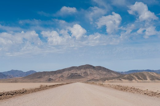 Dirt Road in the Desert : Stock Photo