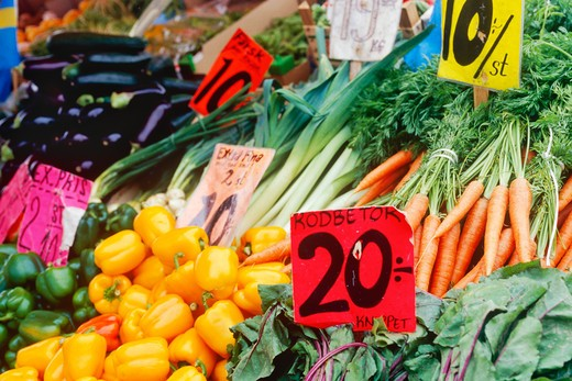 Vegetables at Market Stall : Stock Photo