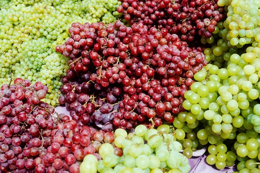 Grapes at a Market Stall : Stock Photo