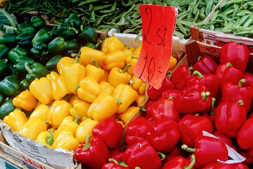 Vegetables at Market Stand : Stock Photo