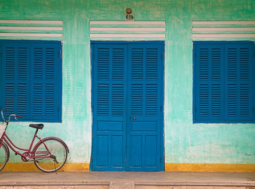 Bike Parked on a Front Porch : Stock Photo