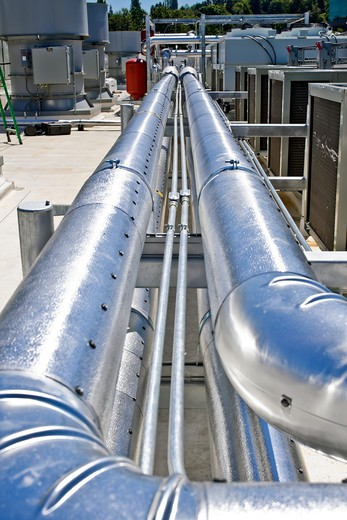 WA, USA, Cooling Pipelines : Stock Photo