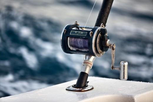 Fiji, Close Up Of Fishing Real : Stock Photo