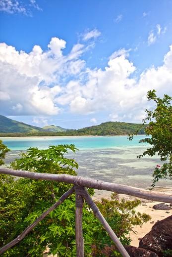 Yaqeta Island, Fiji, Tropical Island Beach View : Stock Photo