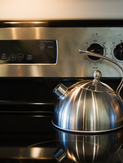 Seattle, WA, Kettle on a Stove Range : Stock Photo
