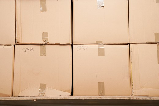 Stacks of Boxes : Stock Photo