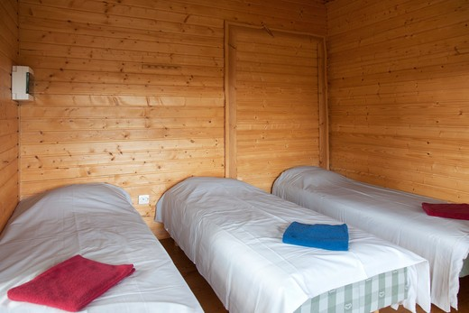Beds at a Holiday Resort : Stock Photo