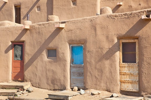 Taos, New Mexico, USA , Adobe Buildings of Taos : Stock Photo