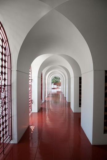 Buddhist Temple Corridor : Stock Photo