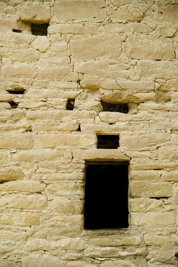 Window Opening in Old Brick Adobe Wall : Stock Photo