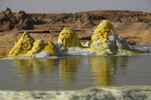Stock Photo: 4239R-1214 February 10, 2008 - Dallol geothermal area, Danakil Depression, Ethiopia
