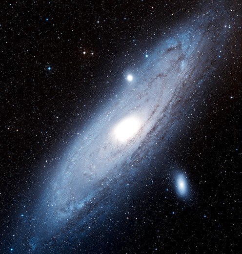 The Andromeda Galaxy (NGC 224) is a spiral galaxy located in the constellation Andromeda : Stock Photo