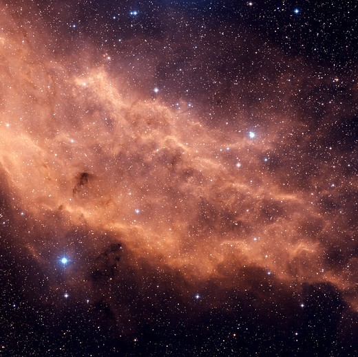 Stock Photo: 4239R-1440 The California Nebula (NGC 1499) is an emission nebula located in the constellation Perseus