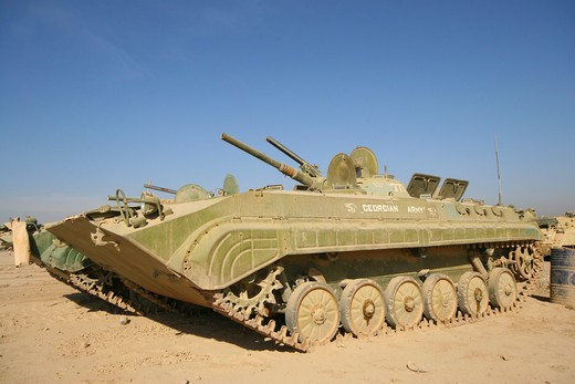 Stock Photo: 4239R-1501 Baqubah, Iraq - Georgian Army light tank