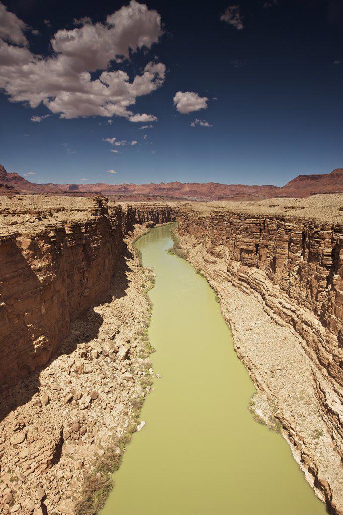 Stock Photo: 4239R-4078 A view of Marble Canyon from Navajo Bridge, Arizona, USA.