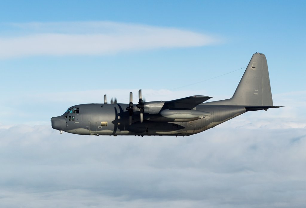 Stock Photo: 4239R-5012 MC-130P Combat Shadow of the 67th Special Operations Squadron/352nd Special Operations Group stationed at RAF Mildenhall, United Kingdom, December 2011.