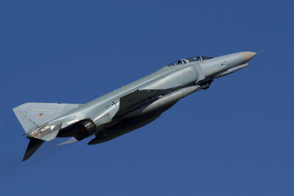 Stock Photo: 4239R-5470 A German F-4F Phantom in flight, Florennes, Belgium.