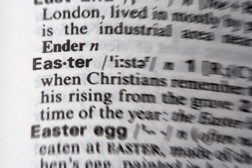 Stock Photo: 4240R-2727 easter word in the dictionary