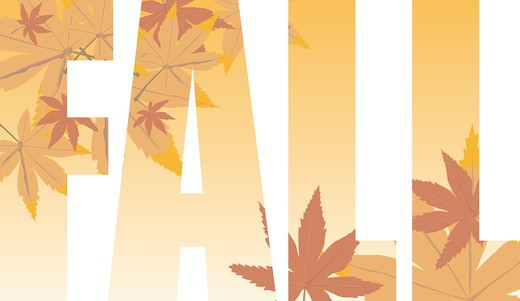 Fall text illustration that could be used as a title or as a background : Stock Photo