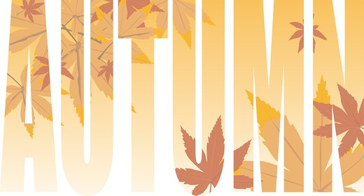Stock Photo: 4251R-265 autumn text illustration that could be used as a background or title for a presentation