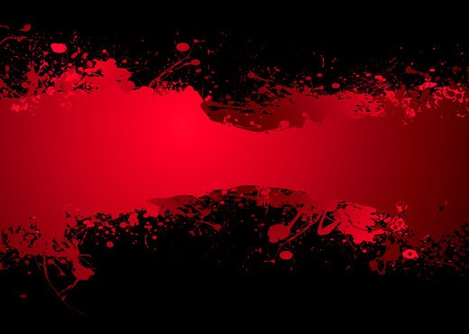 Bright blood red ink banner with room to add your own text : Stock Photo