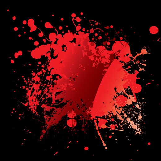 Abstract blood red background with grunge ink effect : Stock Photo