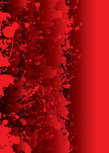 Stock Photo: 4251R-477 Blood red background with overlapping elements and splat