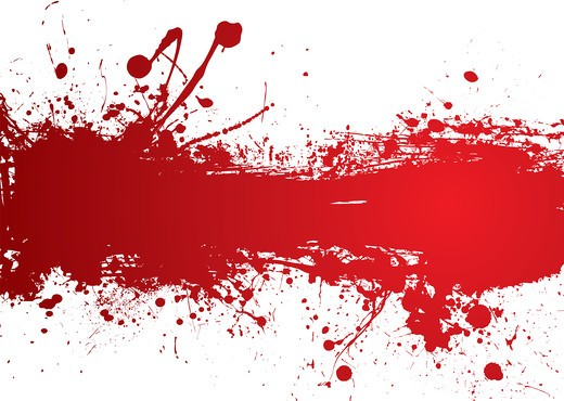 Stock Photo: 4251R-485 Blood red banner with room to add your own text