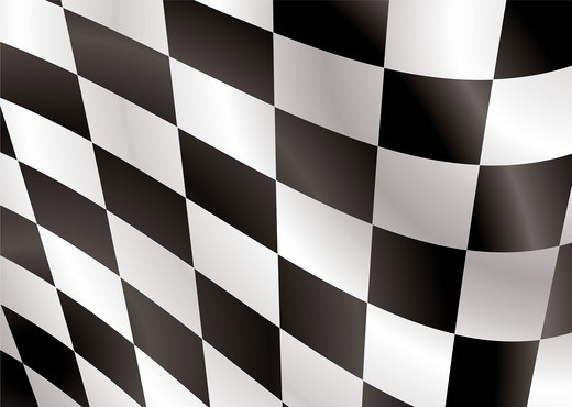 Stock Photo: 4251R-909 Abstract checkered flag flapping in the wind ideal background